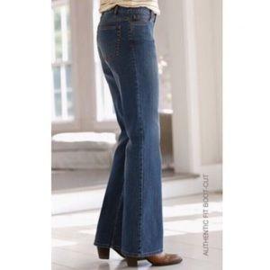 J. Jill Authentic Fit Boot Cut Jeans NWT New 12